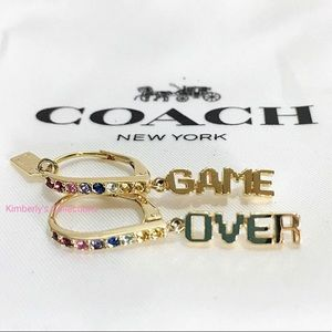 COACH Pac-Man Game Over Earrings Limited E…